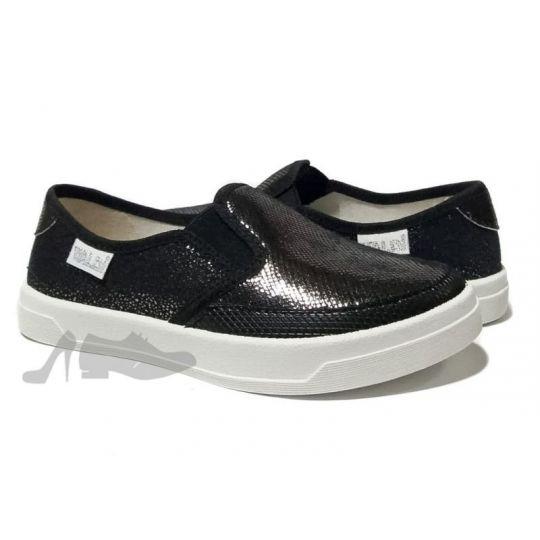 Туфли текстильные 283/287-0-2 Victoria черные