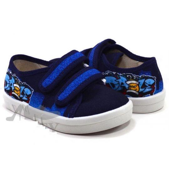 Туфли текстильные 360-252 Alex синие