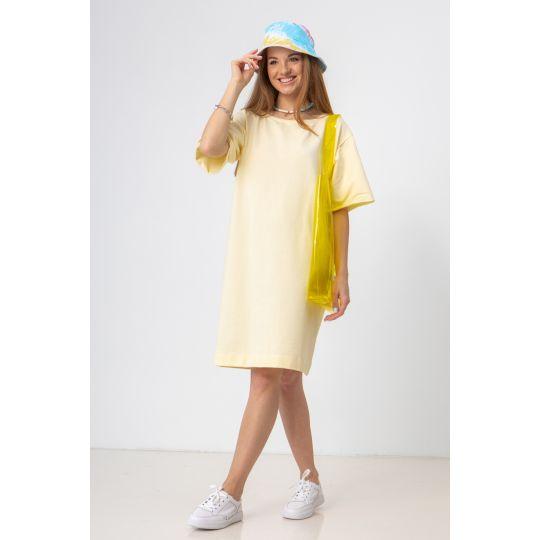 Платье Шайна 7582 светло-жёлтое
