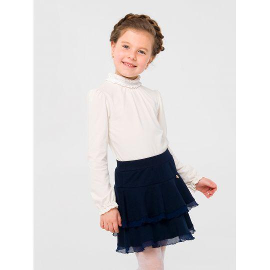 Гольф блуза для девочки 114762 молочный
