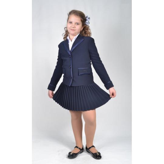 Жакет школьный для девочки Престиж синий
