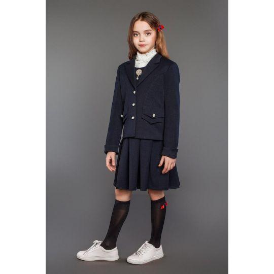 Жакет школьный для девочки Власта синий