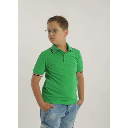 Футболка поло GREEN5MD зеленая