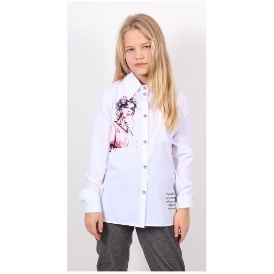 """Рубашка , блуза школьная для девочки """"Веснянка"""" 1374"""