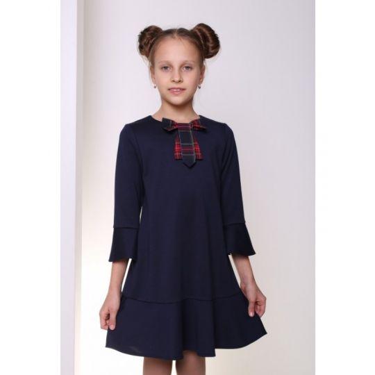 Платье ДШФ-115 тёмно-синее