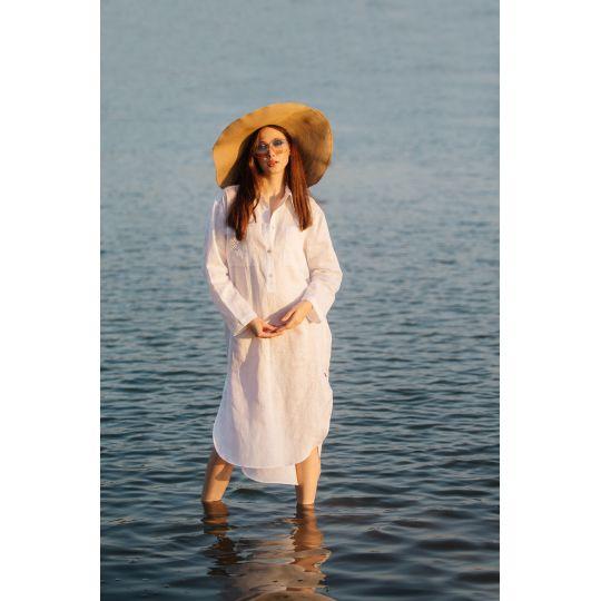 Вышиванка платья рубашка Ника белая В
