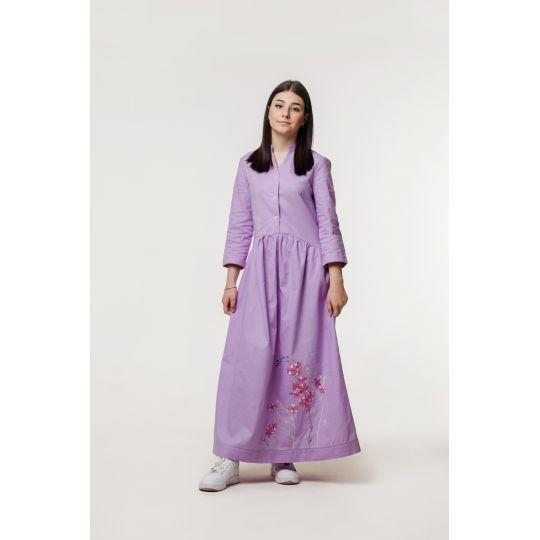 Вышиванка платье Светлана – светлая вышивка В