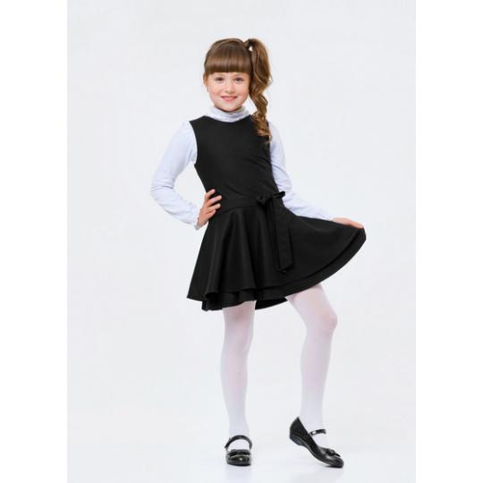 Сарафан школьный 120278 черный трикотаж