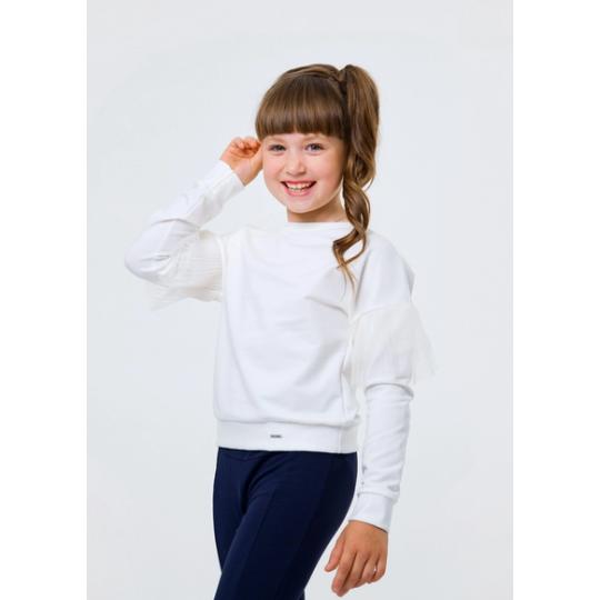 Свитшот для девочки 116443/116444 молочный