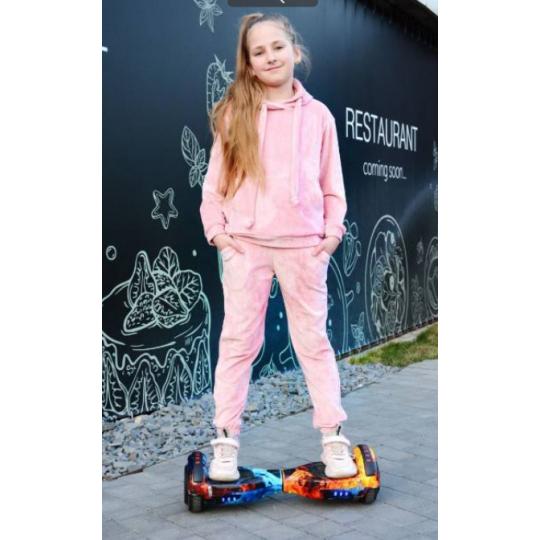 Спортивный костюм Анабель Анна велюр розовый