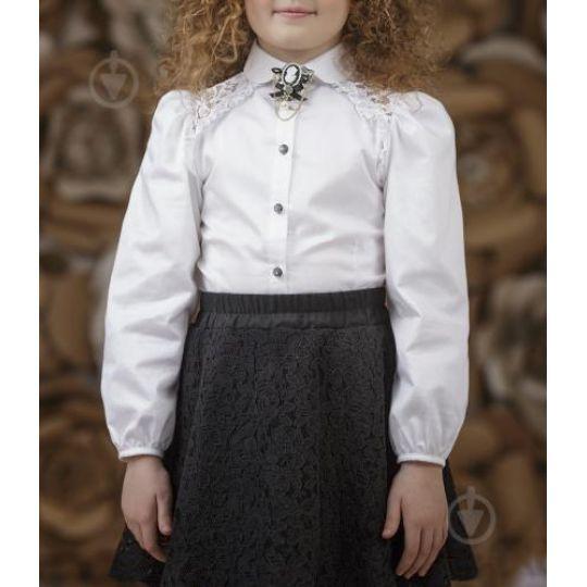 Блуза кружево 3635-1 белая
