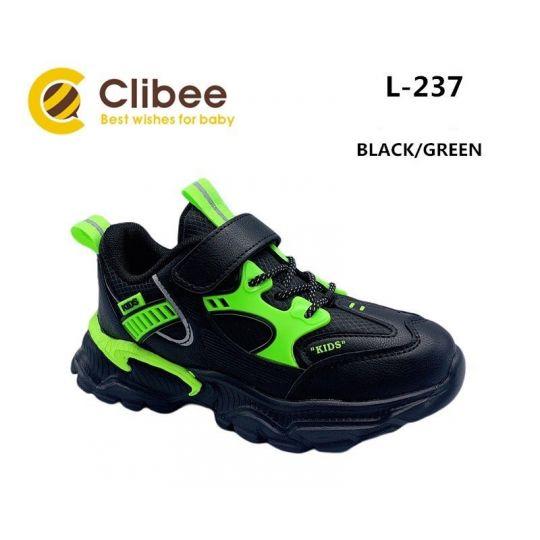Кроссовки L237 черно-зеленые