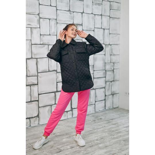 Куртка стеганая 392 черная